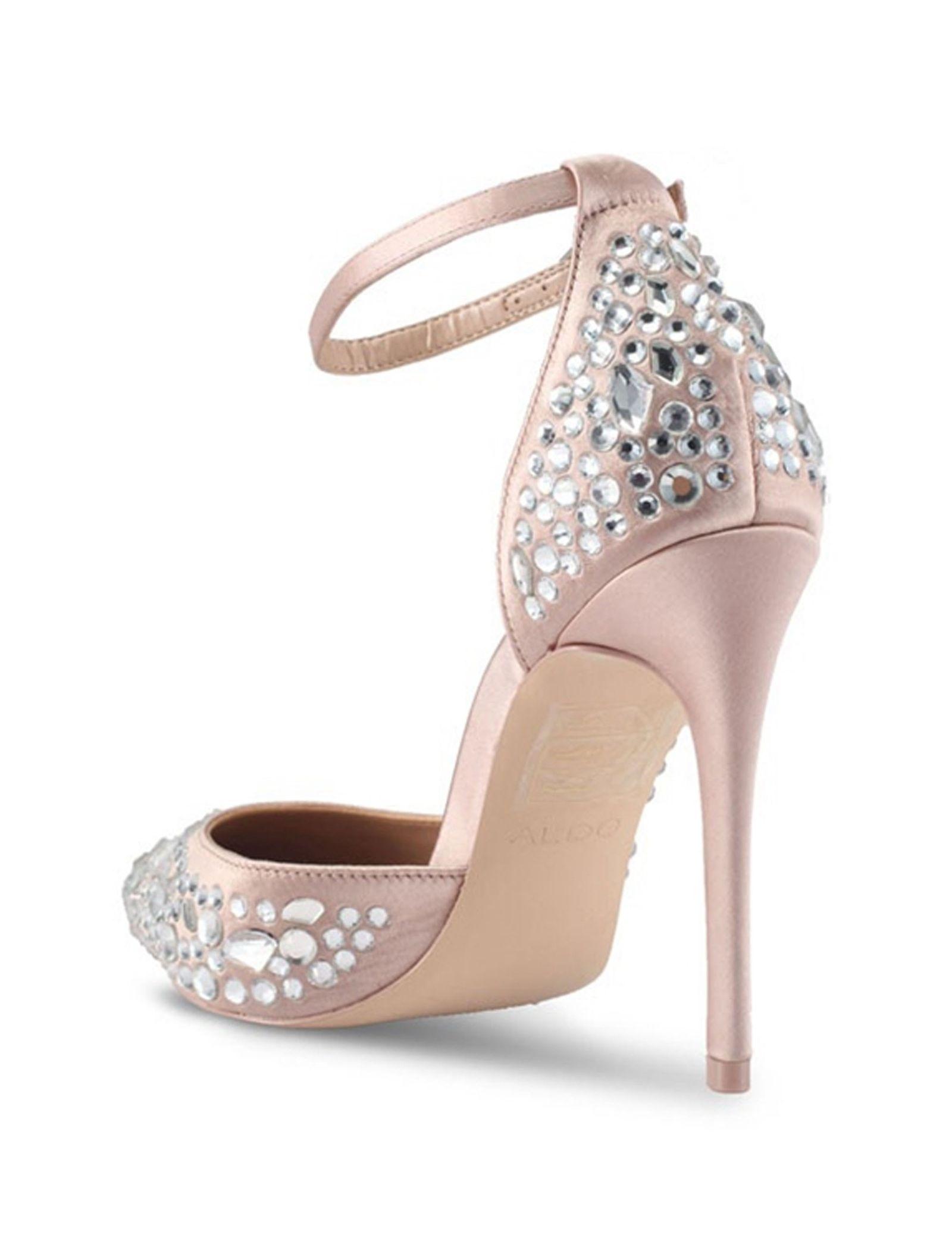 کفش پاشنه بلند پارچه ای زنانه - آلدو - صورتي روشن - 3