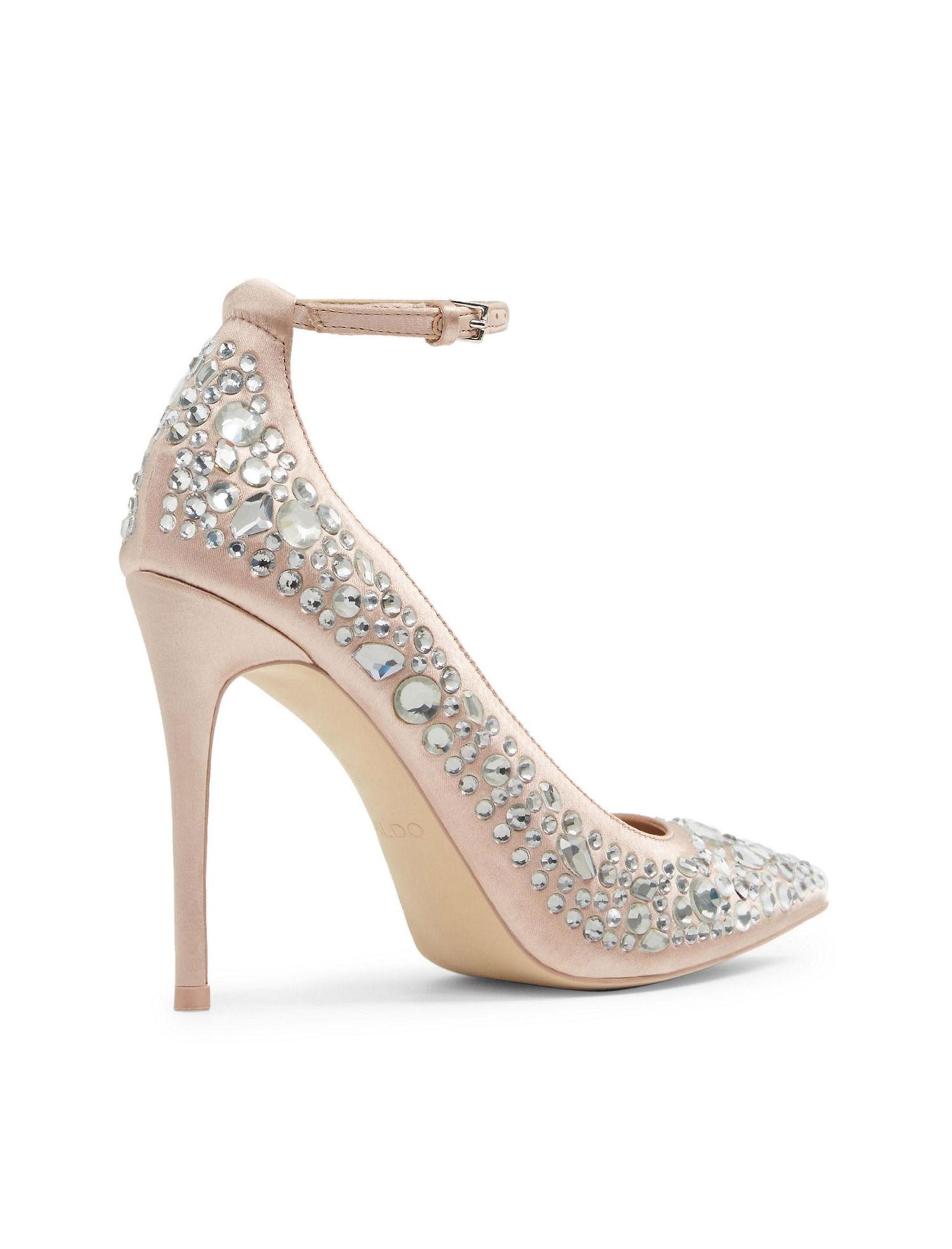 کفش پاشنه بلند پارچه ای زنانه - آلدو - صورتي روشن - 4
