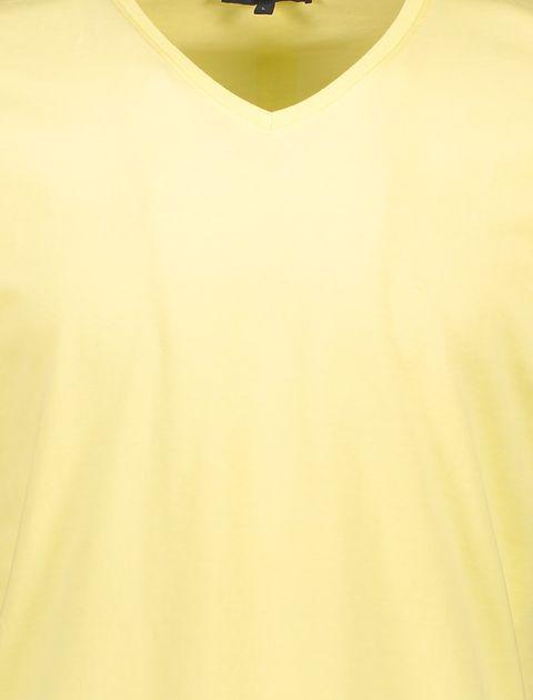 تی شرت نخی یقه هفت مردانه - زرد - 5