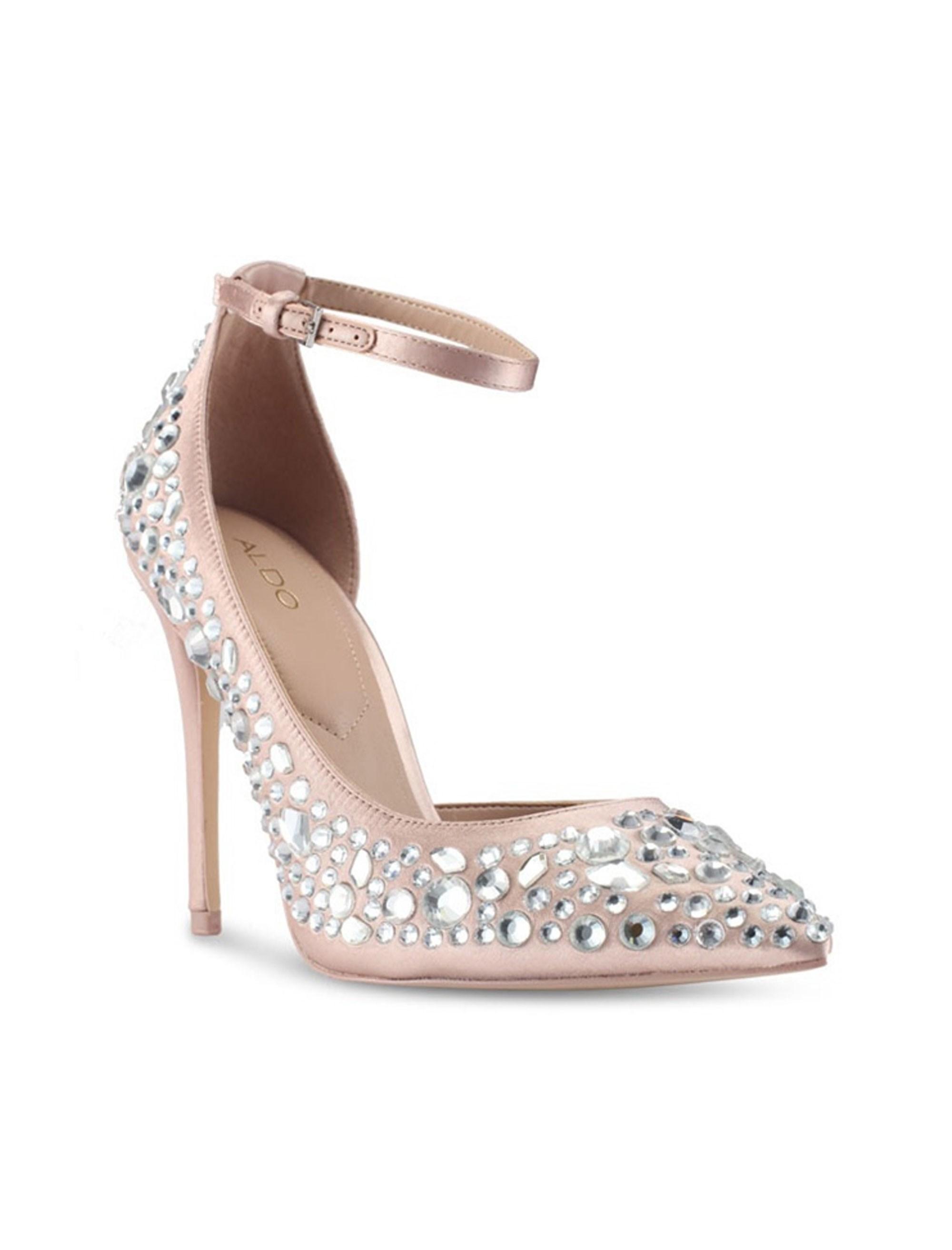 کفش پاشنه بلند پارچه ای زنانه - آلدو - صورتي روشن - 5