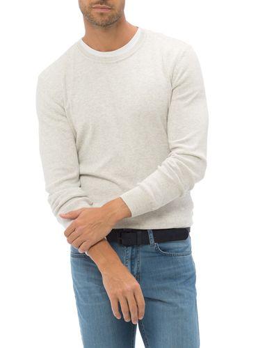 پلیور نخی یقه گرد مردانه