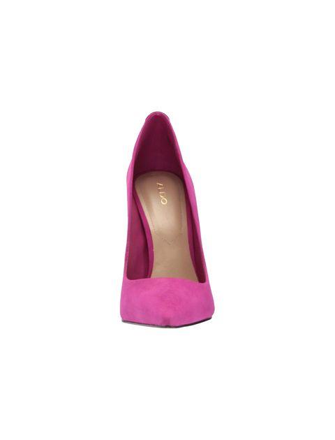 کفش پاشنه بلند چرم زنانه - بنفش - 2