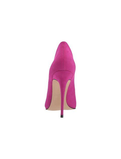 کفش پاشنه بلند چرم زنانه - بنفش - 3