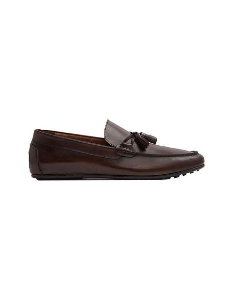کفش راحتی چرم مردانه - قهوه اي - 1