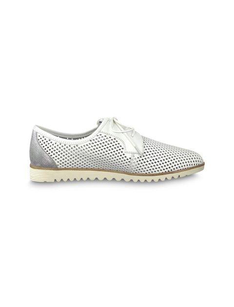 کفش تخت چرم زنانه Eulalia - تاماریس - سفيد - 1