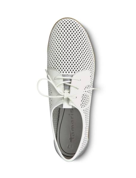 کفش تخت چرم زنانه Eulalia - سفيد - 2