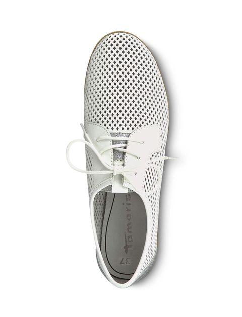کفش تخت چرم زنانه Eulalia - تاماریس - سفيد - 2
