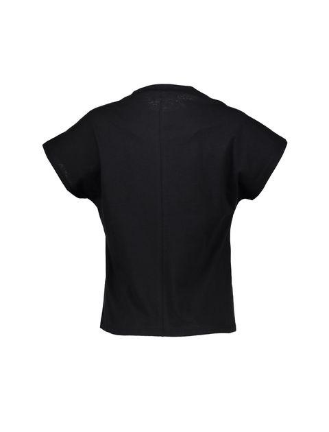 تی شرت نخی یقه گرد زنانه - کوتون - مشکي - 4