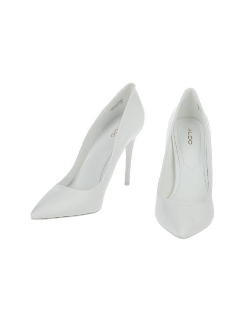 کفش پاشنه بلند زنانه - سفيد  - 4