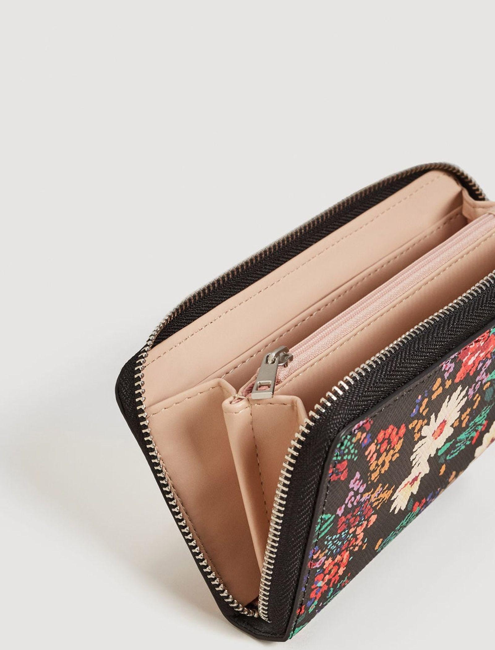 کیف پول زیپ دار زنانه - مانگو - مشکي - 2