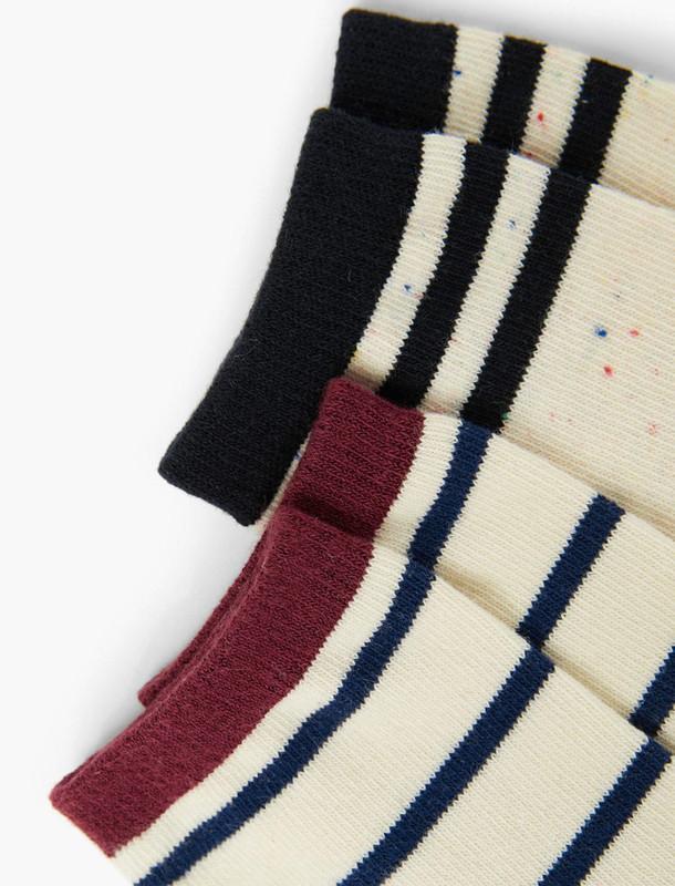 جوراب نخی طرح دار پسرانه بسته 2 عددی