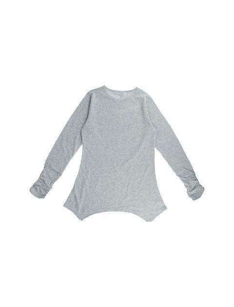 تی شرت نخی آستین بلند دخترانه - طوسي - 2