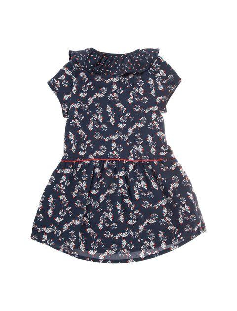 پیراهن آستین حلقه ای نوزادی دخترانه - سرمه اي - 2