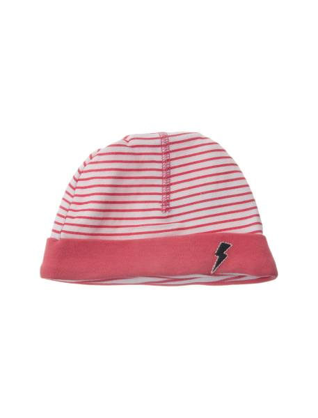 کلاه و پاپوش نخی نوزادی دخترانه - صورتي  - 2