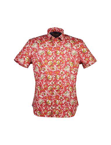 پیراهن نخی آستین کوتاه مردانه - مانگو