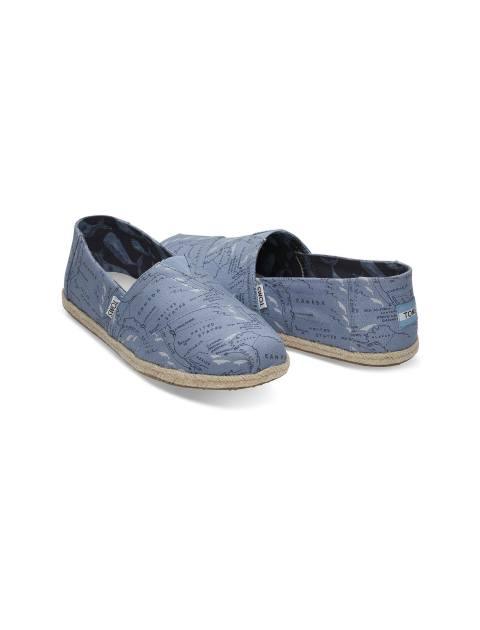 کفش راحتی پارچه ای مردانه - آبي - 2