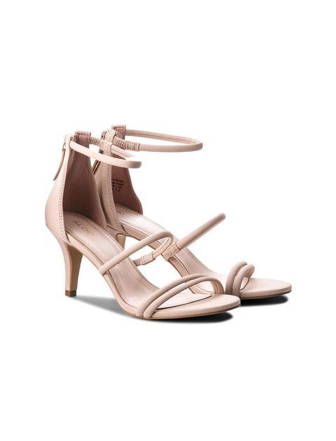 کفش پاشنه بلند زنانه - صورتي روشن - 2