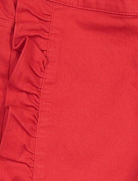 شلوار نخی راسته دخترانه - قرمز - 3