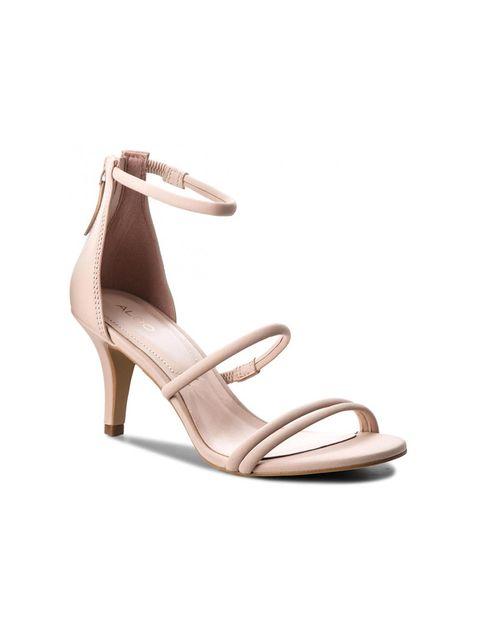 کفش پاشنه بلند زنانه - صورتي روشن - 3