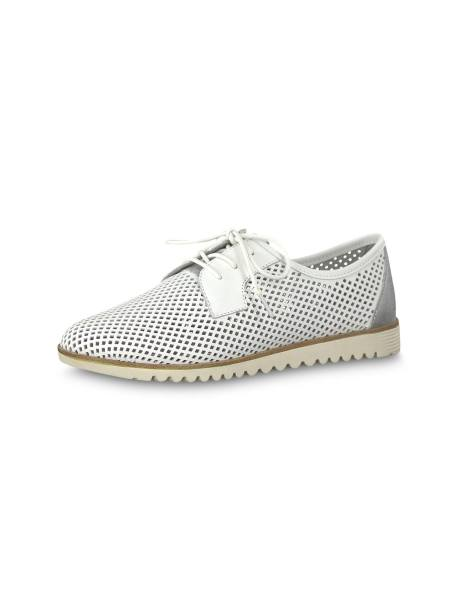 کفش تخت چرم زنانه Eulalia - سفيد - 4