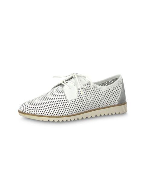 کفش تخت چرم زنانه Eulalia - تاماریس - سفيد - 4