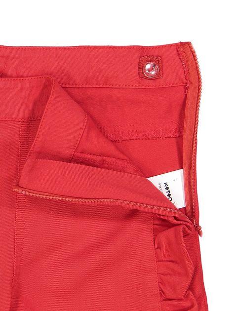 شلوار نخی راسته دخترانه - قرمز - 4