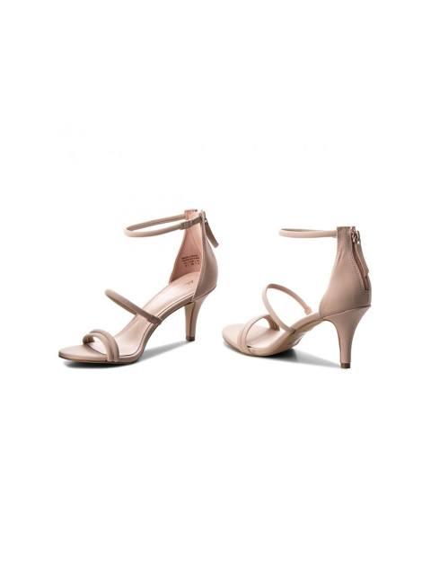 کفش پاشنه بلند زنانه - صورتي روشن - 4