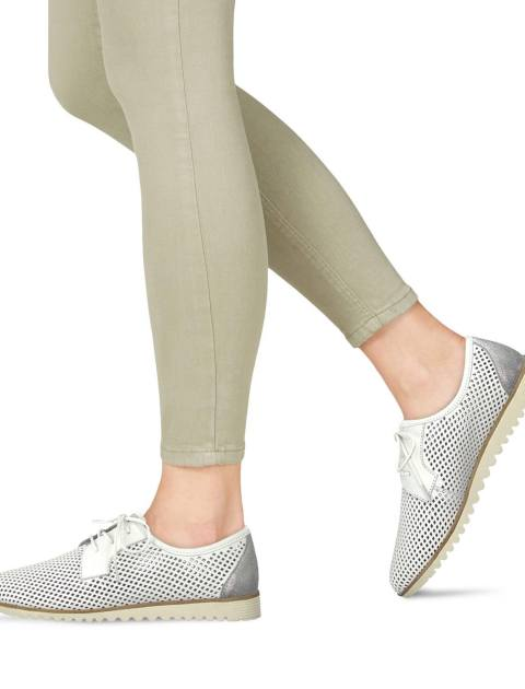 کفش تخت چرم زنانه Eulalia - تاماریس - سفيد - 6