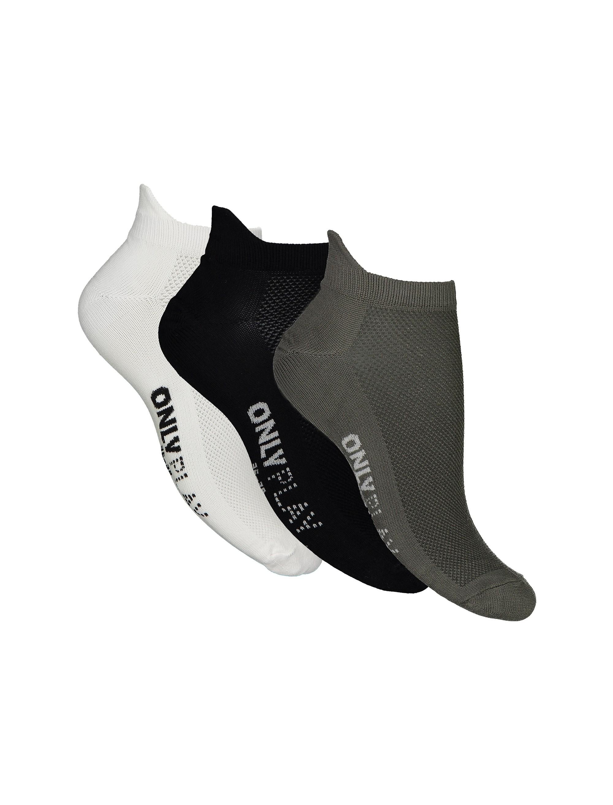 جوراب بدون ساق زنانه بسته 3 عددی
