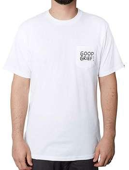 تی شرت نخی یقه گرد مردانه Good Grief Pocket