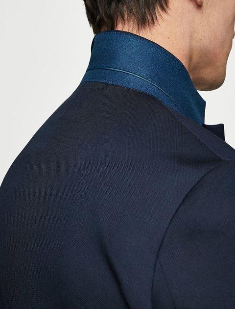 کت تک رسمی مردانه - سرمه اي - 4