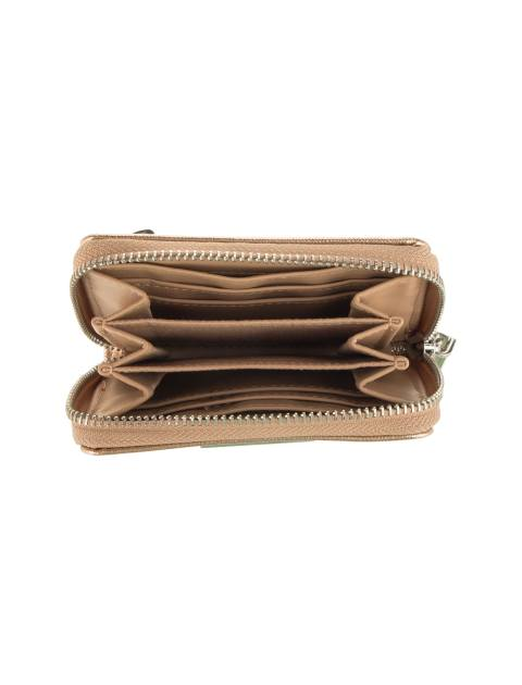 کیف پول زیپ دار زنانه - مانگو - طلايي - 4