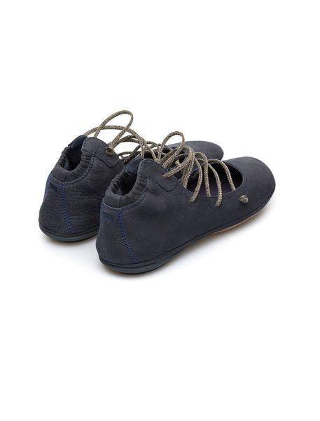 کفش تخت چرم زنانه Right Nina - آبي تيره - 4
