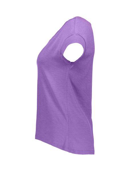 تی شرت نخی یقه گرد زنانه - بنفش - 4