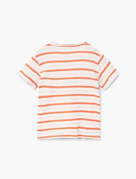 تی شرت نخی یقه گرد نوزادی پسرانه - قرمز - 2