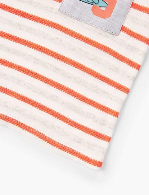 تی شرت نخی یقه گرد نوزادی پسرانه - قرمز - 3