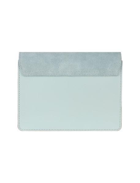 کیف دوشی چرم روزمره زنانه - سبز آبي روشن - 2