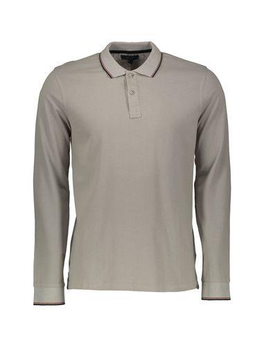 پولو شرت نخی آستین بلند مردانه