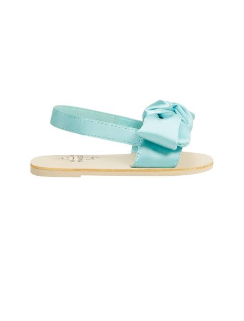 کفش بندی نوزادی دخترانه - آبي روشن  - 1