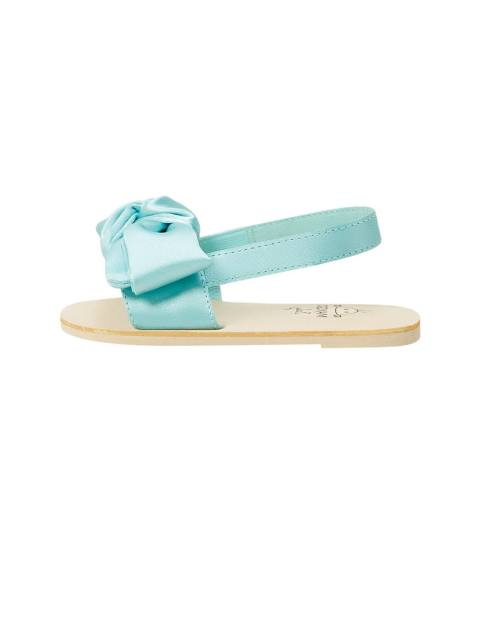 کفش بندی نوزادی دخترانه - آبي روشن  - 2