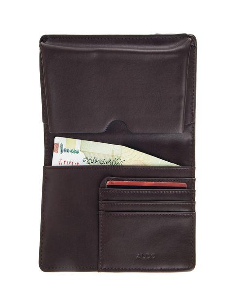 کیف پول کتابی مردانه - آلدو - قهوه اي - 5