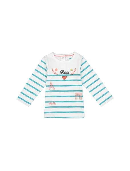 تی شرت نخی طرح دار نوزادی