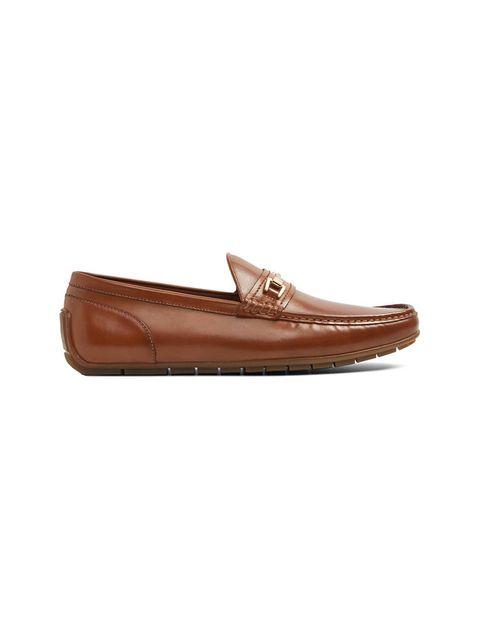 کفش راحتی چرم مردانه - عسلي - 1