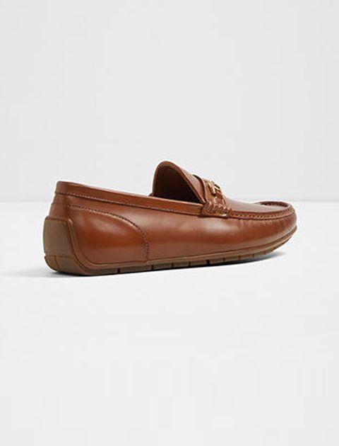 کفش راحتی چرم مردانه - عسلي - 2