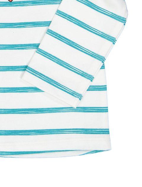 تی شرت نخی طرح دار نوزادی - سفيد - 3