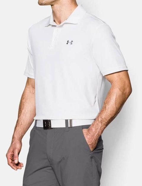 پولوشرت ورزشی آستین کوتاه مردانه - سفيد - 3