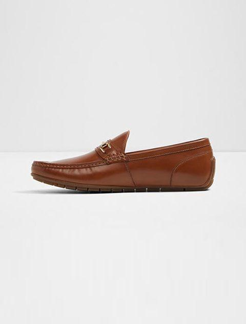کفش راحتی چرم مردانه - عسلي - 3