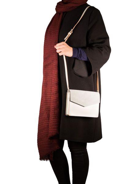 کیف دوشی چرم روزمره زنانه - سبز آبي روشن - 7