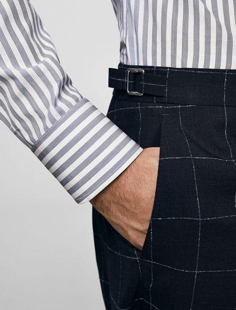 شلوار رسمی مردانه - سرمه اي - 5