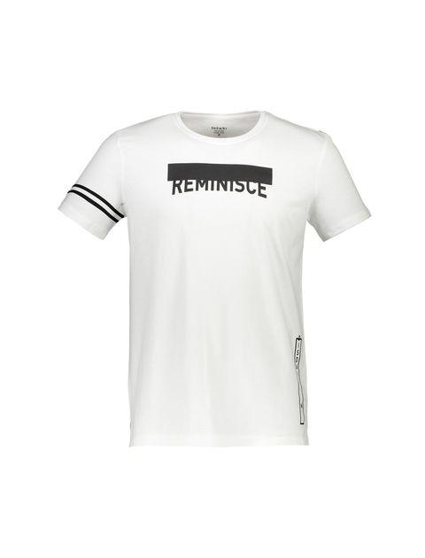 تی شرت نخی یقه گرد مردانه - دفکتو - سفيد - 1